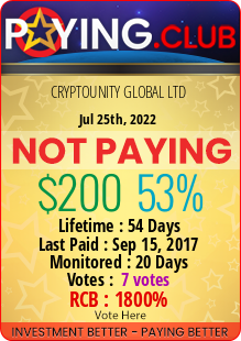 paying.club - hyip cryptounity global ltd