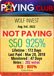 paying.club - hyip Wolf Invest