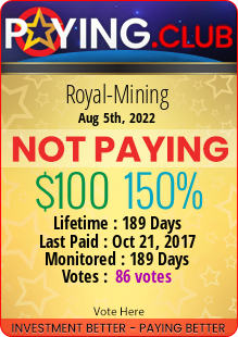 paying.club - hyip royal mining