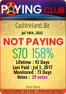 paying.club - hyip cash in hand